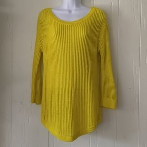 Gap Women's Yellow Knit Sweater Size Small